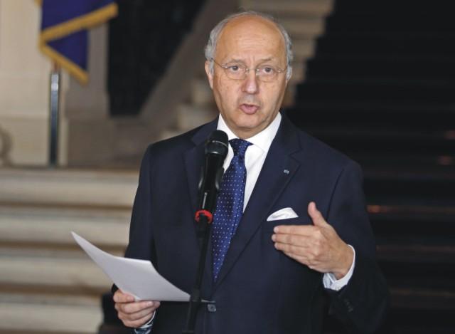 Francúzsky minister zahraničných vecí Laurent Fabius