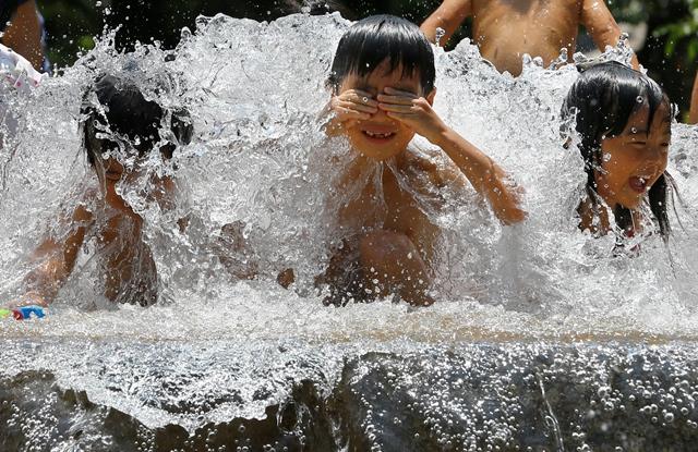 Japonsko denný život horúčavy