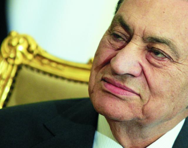 Na archívnej snímke egyptský prezident Husní Mubarak