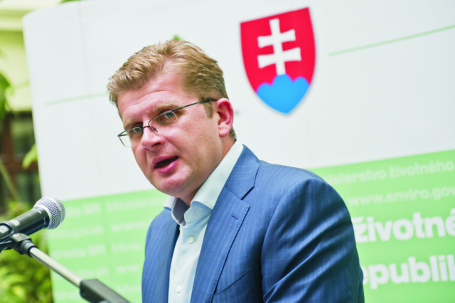 Na snímke minister životného prostredia SR Peter Žiga