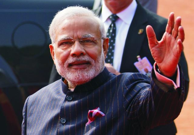 Na snímke z 25. januára 2015 je indický premiér Naréndra Módí