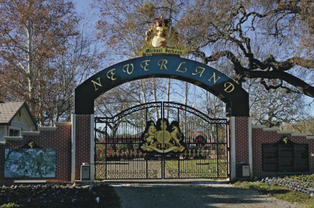 Na archívnej snímke vstup na Ranč Neverland