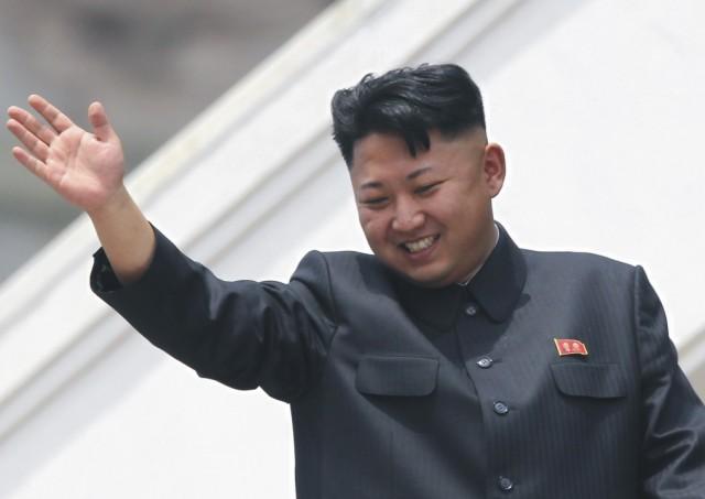 Na archívnej snímke severokórejský líder Kim Čong-un