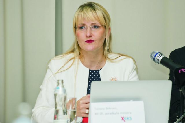 Na snímke poradkyňa ministra vnútra SR Tatiana Behrová