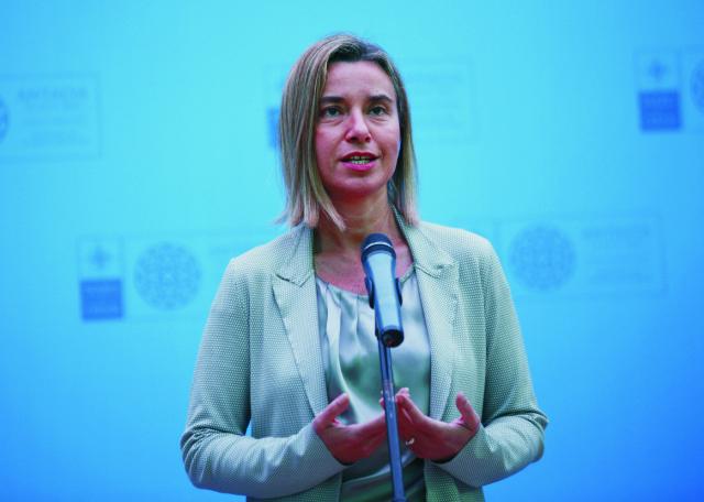 Na snímke Federica Mogheriniová