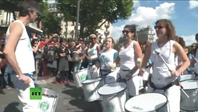 Demonštrácia proti geneticky modifikovaným produktom a nadnárodnej spoločnosti Monsanto
