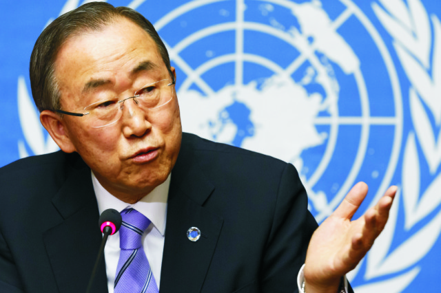 Na snímke generálny tajomník OSN Pan Ki-mun