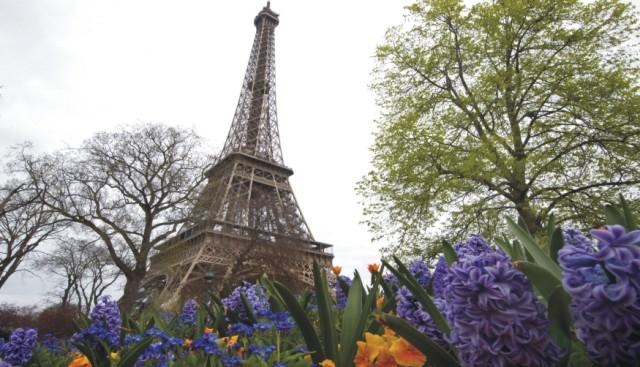 Na snímke Eiffelova veža