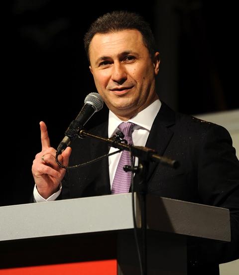 Na snímke macedónsky premiér Nikola Gruevski