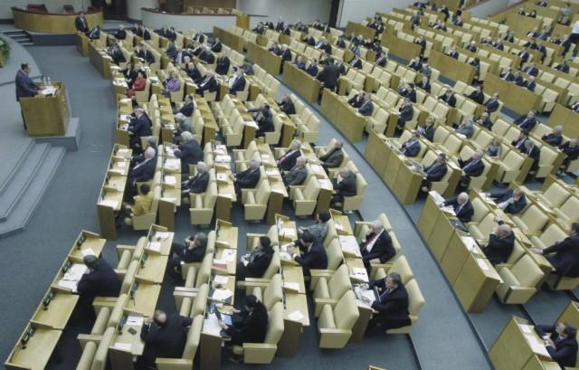 Na archívnej snímke zasadnutie poslancov Ruskej Štátnej dumy