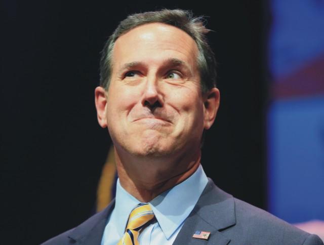 Na snímke bývalý americký senátor Rick Santorum