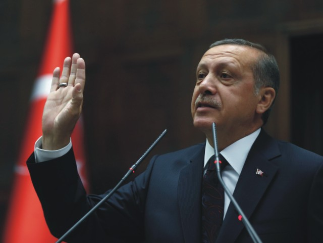 Na snímke Recep Tayyip Erdogan