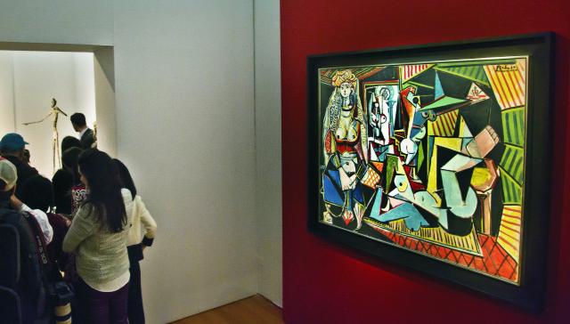Na snímke umelecké dielo Ženy z Alžíru (Les femmes d'Alger) španielskeho majstra Pabla Picassa