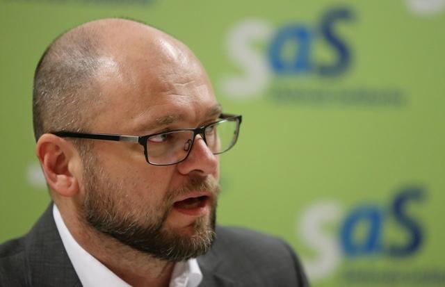 Na snímke europoslanec a predseda strany Sloboda a Solidarity (SaS) Richard Sulík