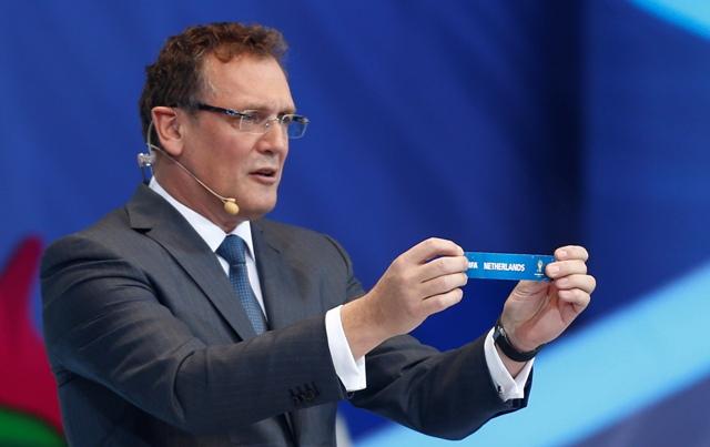 Na snímke generálny sekretár FIFA Jerome Valcke