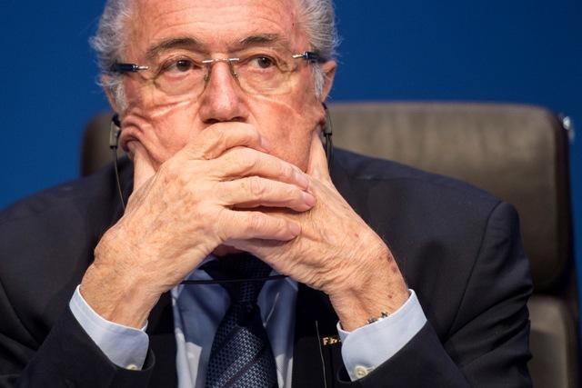 Na snímke opätovne zvolený prezident Medzinárodnej futbalovej federácie (FIFA) Joseph Blatter