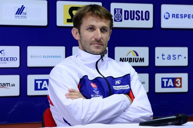 Na snímke slovenský kapitán Matej Lipták