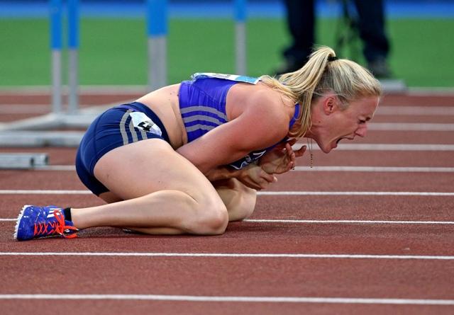 Na snímke austrálska atlétka Sally Pearsonová