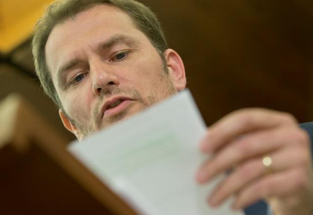 Na snímle líder hnutia OĽaNO Igor Matovič