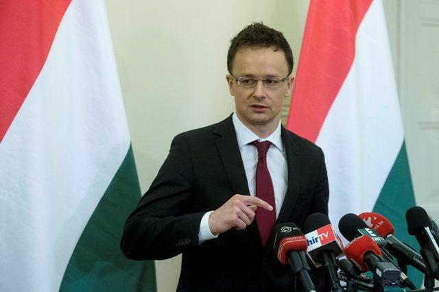 Na snímke maďarský minister zahraničných vecí a vonkajších ekonomických vzťahov Péter Szijjártó