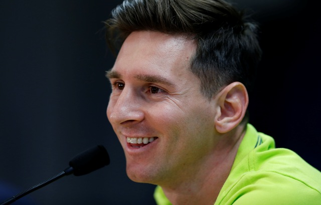 Na snímke futbalista Lionel Messi