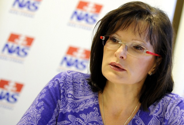 Na snímke predsedníčka NaS Anna Belousovová