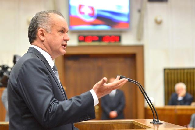 Na snímke slovenský prezident Andrej Kiska