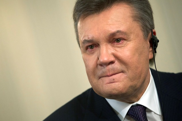Na snímke Viktor Janukovyč