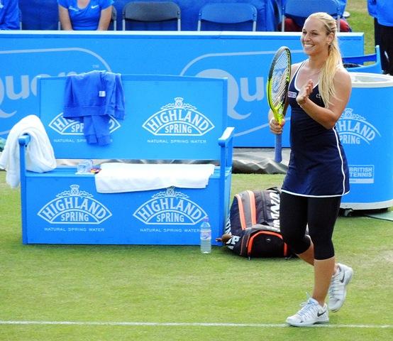 Na snímke sa slovenská tenistka Dominika Cibulková