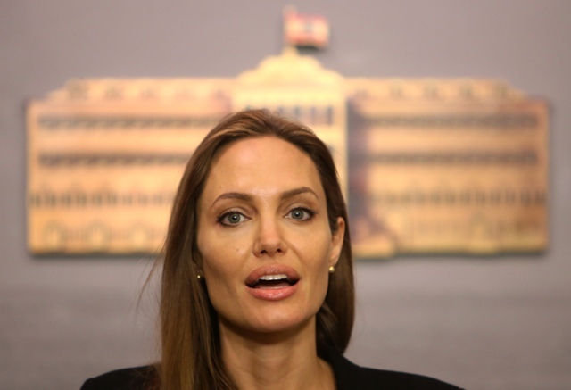 Na snímke Angelina Jolie