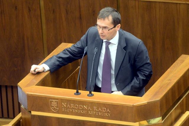 Na snímke opozičný poslanec Ľubomír Galko (SaS)
