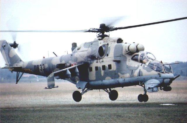 Na snímke vrtuľník MI - 24 D. Ilustračné foto