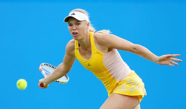 Na snímke dánska tenistka Caroline Wozniacka