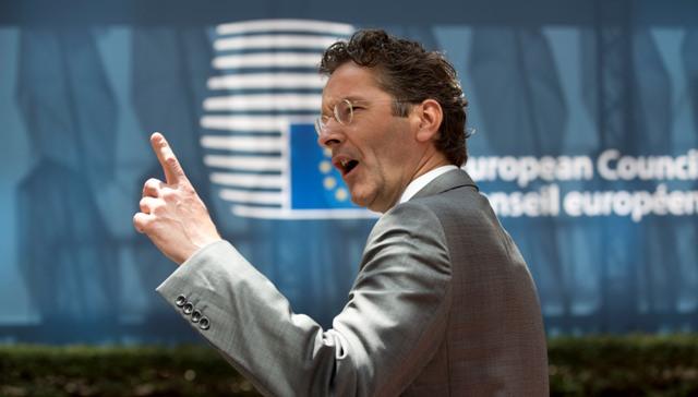 Na snímke predseda Euroskupiny a holandský minister financií Jeroen Dijsselbloem