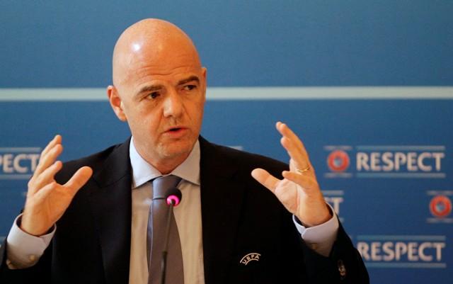 Na snímke generálny sekretár Európskej futbalovej únie (UEFA) Gianni Infantino