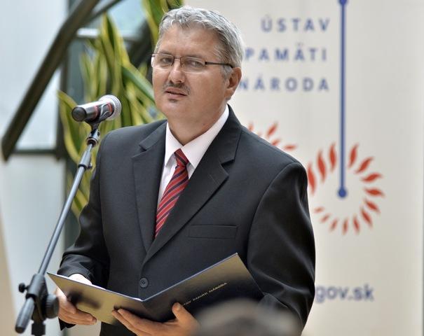 Na snímke predseda Správnej rady Ústavu pamäti národa Ondrej Krajňák