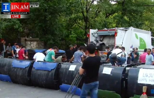 Masové protestné akcie v Jerevane
