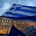 Na snímke grécka vlajka