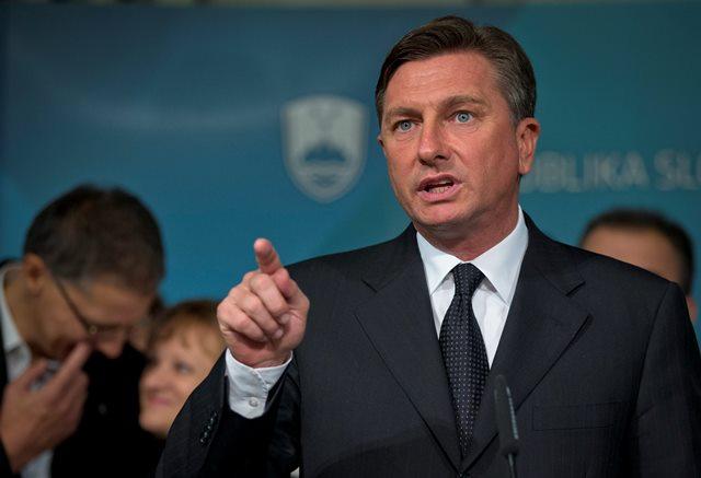 Na snímke slovinský prezident Borut Pahor