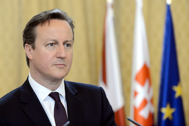Na snímke premiér Spojeného kráľovstva Veľkej Británie a Severného Írska David Cameron