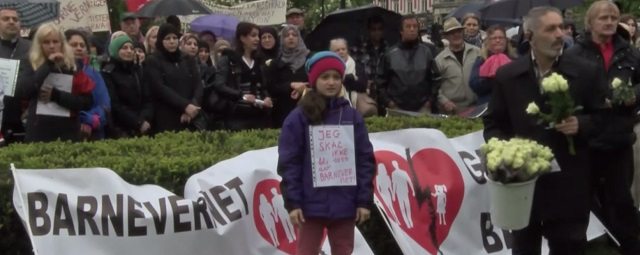 Demonštranti v Osle