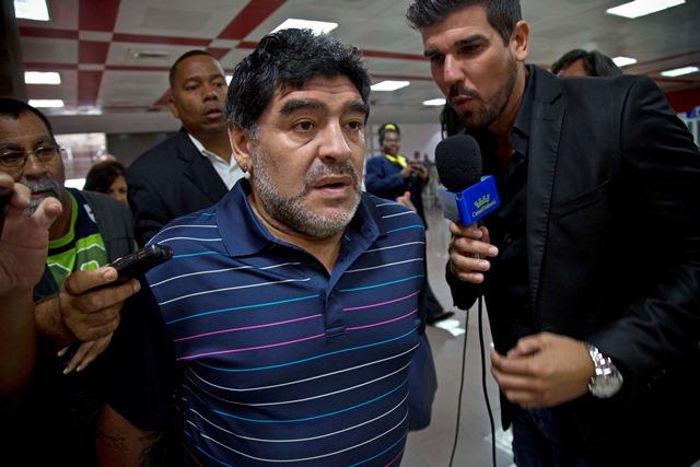 Na snímke argentínska futbalová legenda Diego Armando Maradona