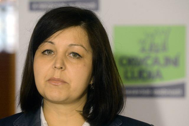 Na snímke podpredsedníčka Národnej rady SR a poslankyňa za hnutie Obyčajní ľudia a nezávislé osobnosti Erika Jurinová