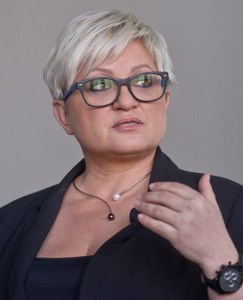 Na snímke zakladateľka strany Šanca Eva Babitzová
