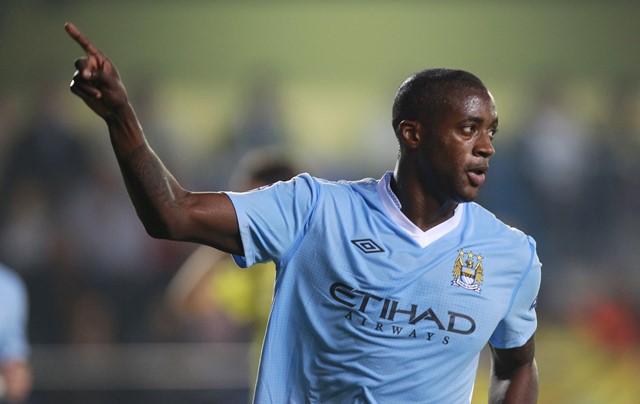 Na snímke futbalista Manchesteru City Yaya Toure