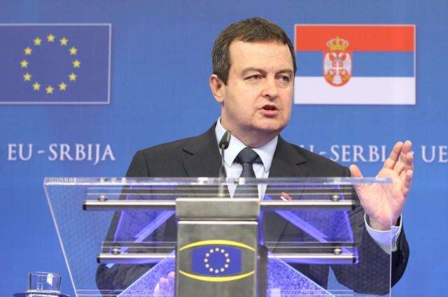 Na snímke srbský premiér Ivica Dačič