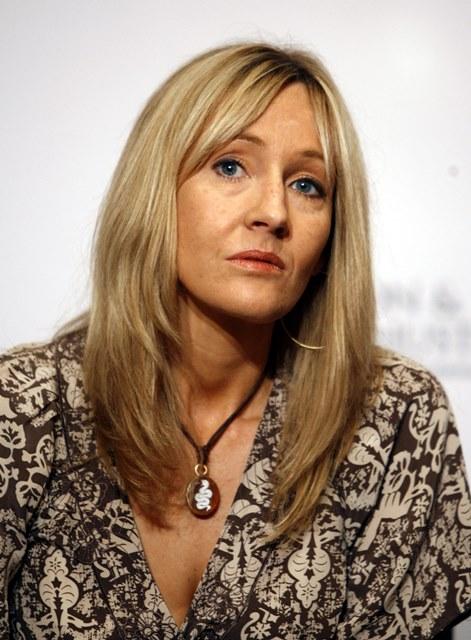 Na snímke autorka Harry Pottera J.K.Rowlingová
