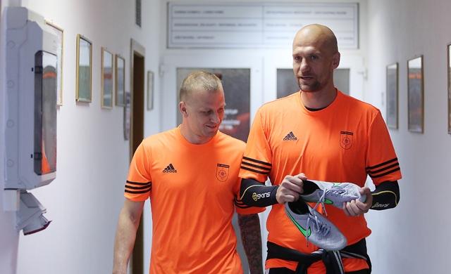 Na snímke zľava Marek Sapara a Martin Jakubko