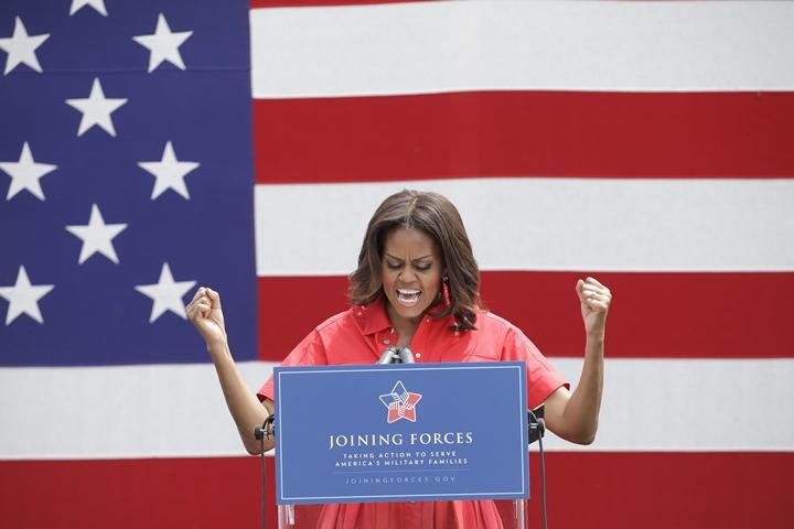 Na snímke prvá dáma USA Michelle Obamová