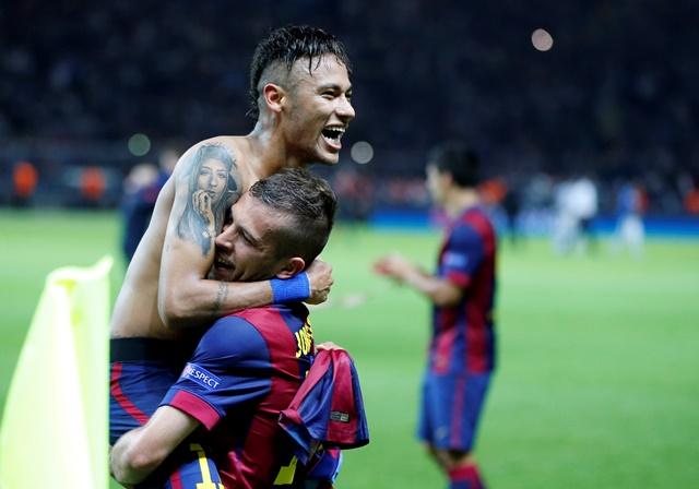 Na snímke futbalový hráč Neymar